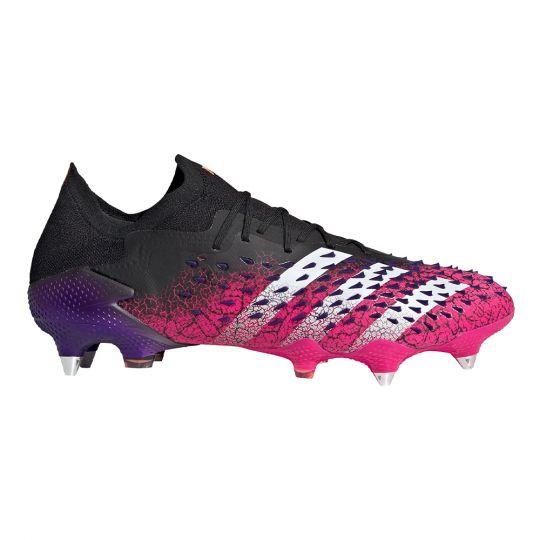 adidas Predator Freak.1 Low Ijzeren-Nop Voetbalschoenen (SG) Zwart Wit Roze