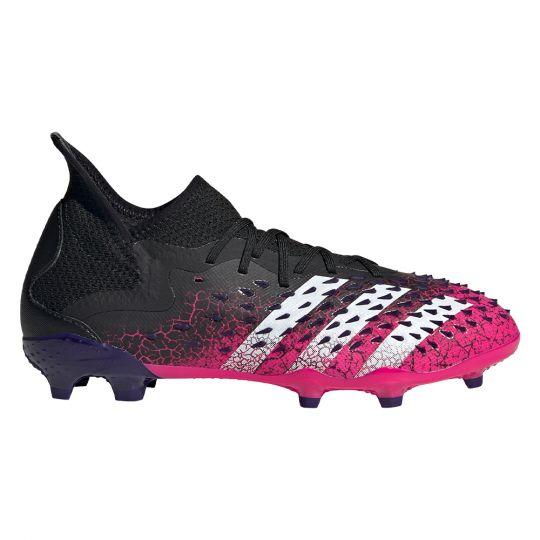adidas Predator Freak.1 Gras Voetbalschoenen (FG) Kids Zwart Wit Roze