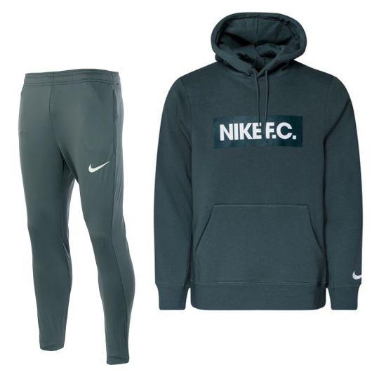 Nike F.C. Fleece Trainingspak Blauwgroen