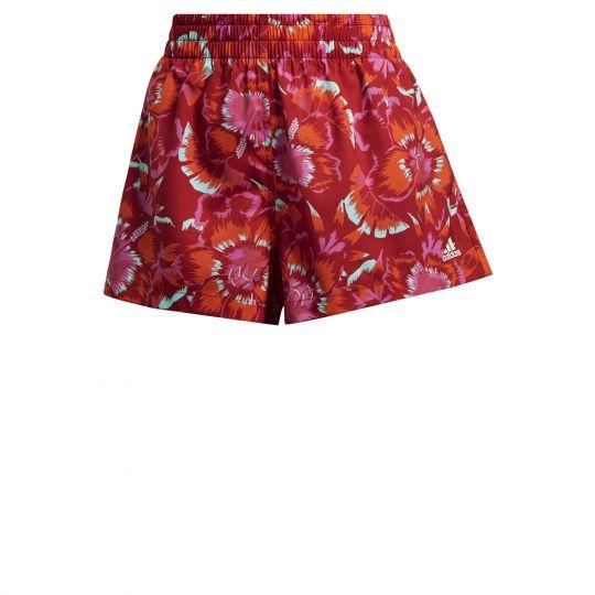 adidas FARM Rio Floral Print Short Dames Rood