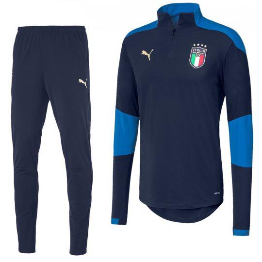 PUMA Italië 1/4 Zip Trainingspak 2020-2022 Donkerblauw