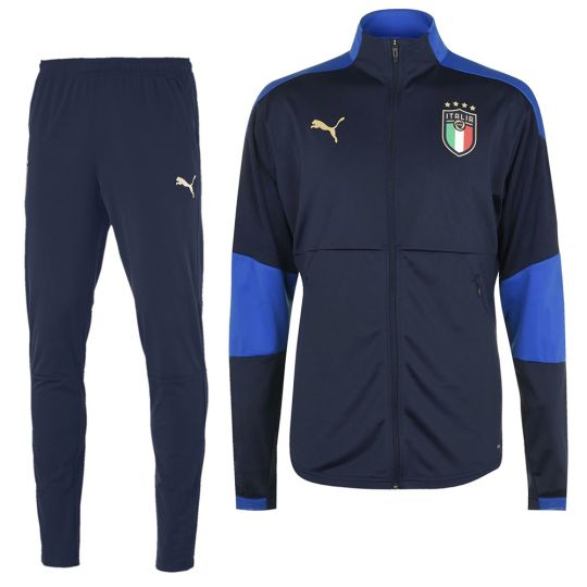 PUMA Italie Full Zip Trainingspak 2020-2022 Donkerblauw