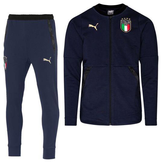 PUMA Italie Casual Full-Zip Trainingspak 2020-2022 Donkerblauw