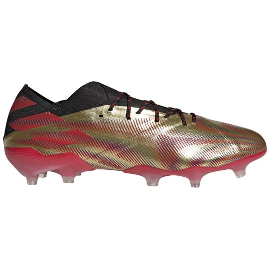 adidas Nemeziz Messi.1 Gras Voetbalschoenen (FG) Goud Rood Zwart