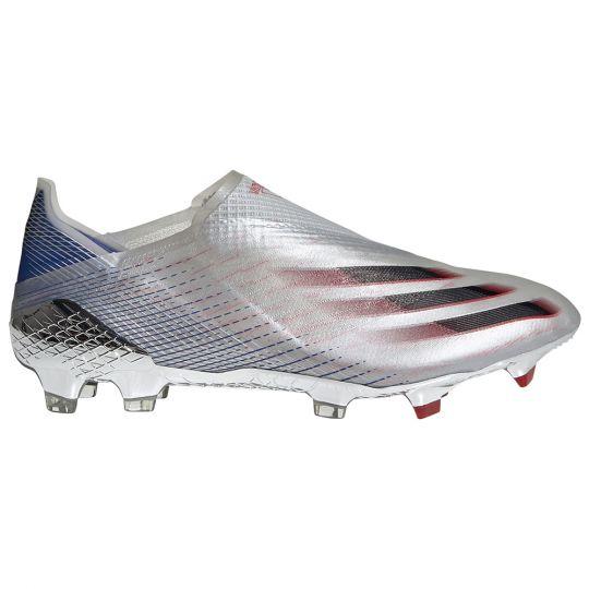 adidas X Ghosted+ Gras Voetbalschoenen (FG) Zilver Zwart Rood