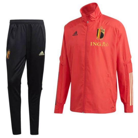 adidas Belgie Presentatie Trainingspak 2020-2022 Rood Zwart