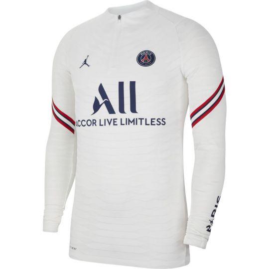 Nike Paris Saint Germain Elite Drill Trainingstrui 2021-2022 Wit Donkerblauw