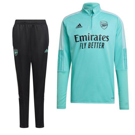 adidas Arsenal Trainingspak 2021-2022 Kids Mintgroen