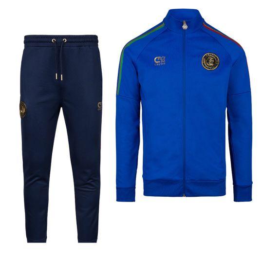 Cruyff Euro Trainingspak Italië Blauw Donkerblauw