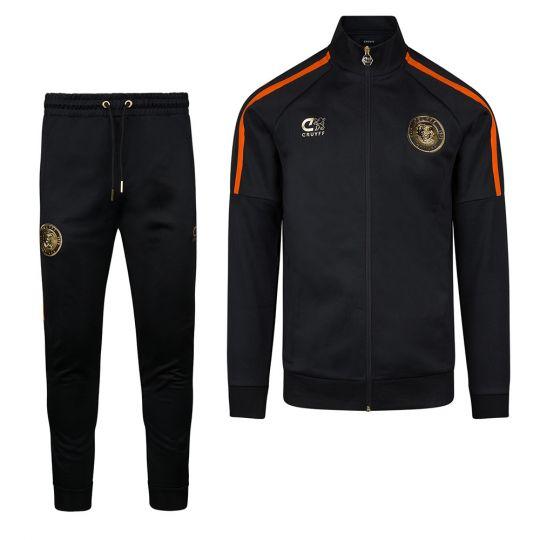 Cruyff Euro Trainingspak Nederland Zwart Oranje