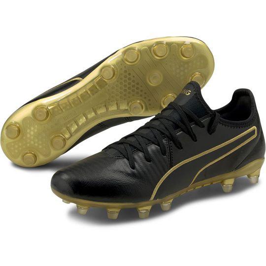 PUMA KING Pro Gras Voetbalschoenen (FG) Zwart Goud