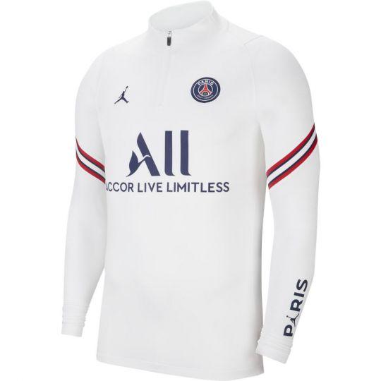 Nike Paris Saint Germain Strike Drill Trainingstrui 2021-2022 Wit Donkerblauw