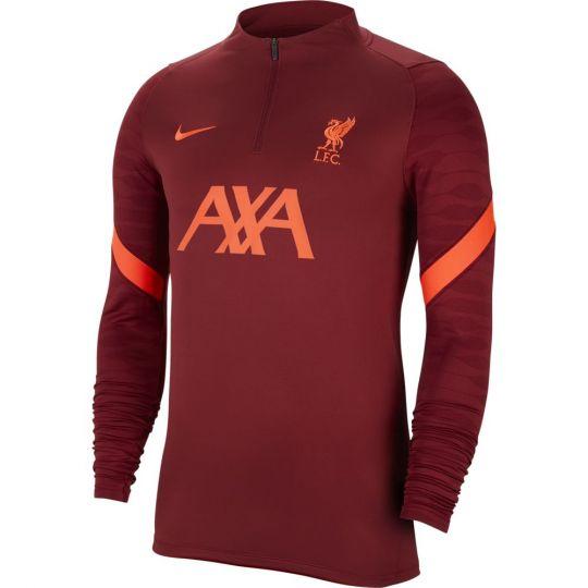 Nike Liverpool Strike Drill Trainingstrui 2021-2022 Dames Rood Felrood