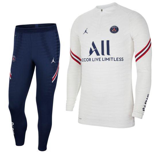 Nike Paris Saint Germain Strike Drill Trainingspak 2021-2022 Kids Wit Donkerblauw