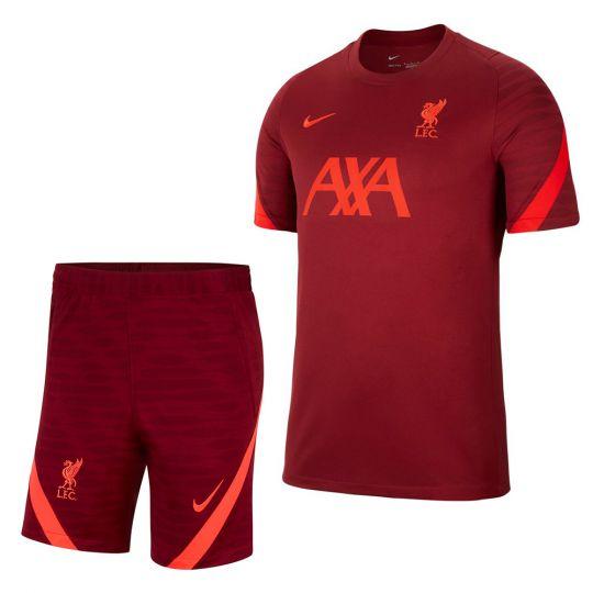 Nike Liverpool Strike Trainingsset 2021-2022 Kids Rood Felrood