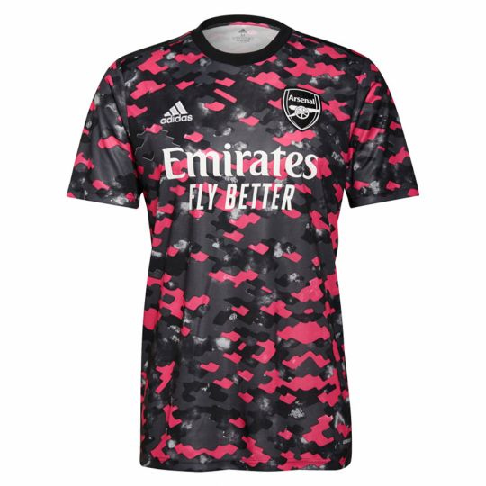adidas Arsenal Pre-Match Trainingsshirt 2021-2022 Roze Grijs Zwart