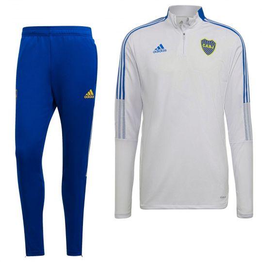 adidas Boca Juniors Drill Trainingspak 2021-2022 Grijs Blauw