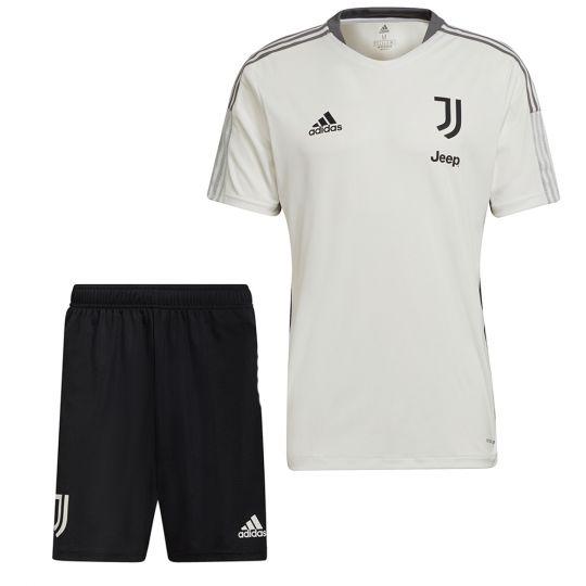 adidas Juventus Trainingsset 2021-2022 Wit Zwart