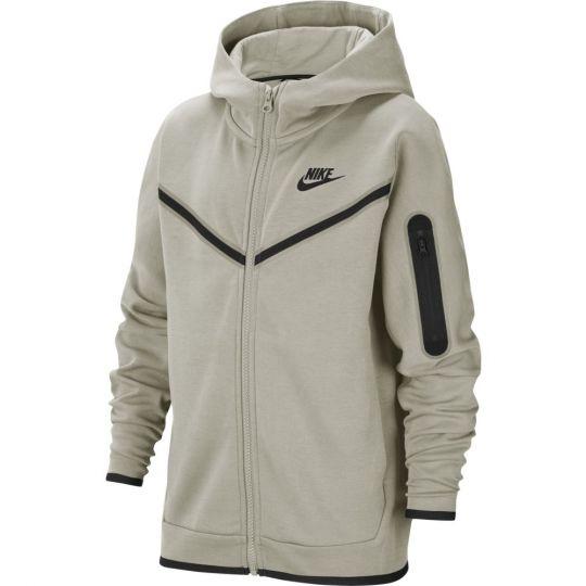 Nike Tech Fleece Full-Zip Hoodie Kids Beige Zwart