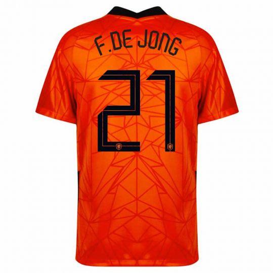 Nike Nederland F. de Jong 21 Thuisshirt Kids 2020-2022