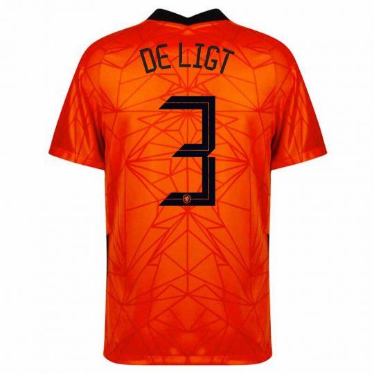 Nike Nederland De Ligt 3 Thuisshirt Kids 2020-2022