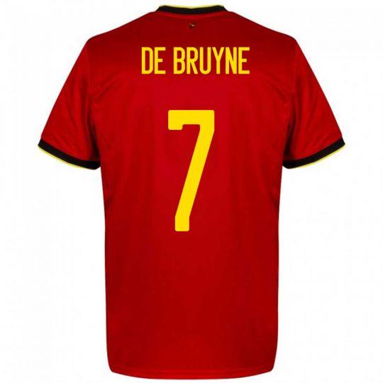 adidas België De Bruyne 7 Thuisshirt Kids 2020-2022